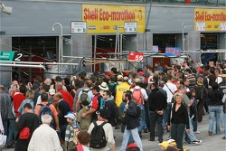 Fans at the pitwalk