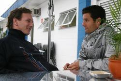 Christian Horner, Red Bull Racing, Sporting Director and Mark Webber, Red Bull Racing