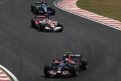 Sebastian Vettel, Takuma Sato, Super Aguri F1