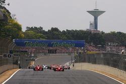 Start: Felipe Massa, Scuderia Ferrari, F2007, Kimi Raikkonen, Scuderia Ferrari, F2007