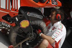 Ducati Marlboro team member at work