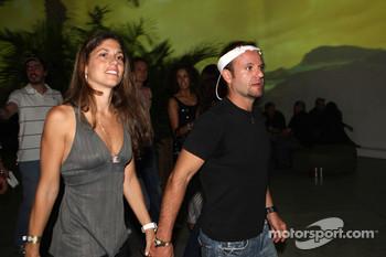 Rubens Barrichello with his wife Silvana
