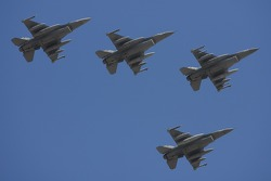 Flyover by jets