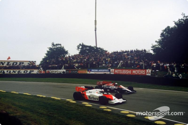 Alain Prost passes Andrea De Cesaris