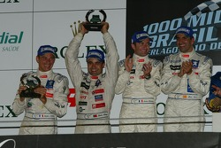 LMP1 podium: class and overall winners Marc Gene and Nicolas Minassian, second place Pedro Lamy and Stéphane Sarrazin