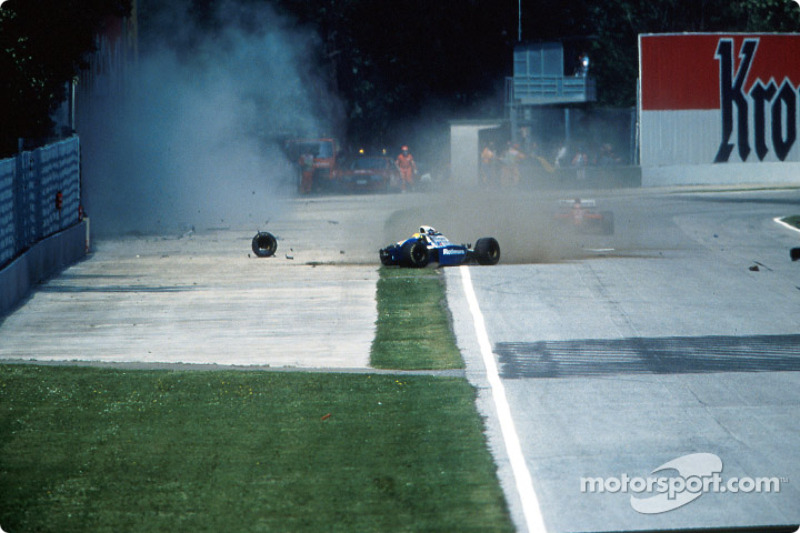 The fatal crash of Ayrton Senna at Tamburello