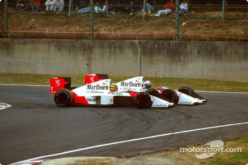 Prost provoca batida em Senna e leva o título de 1989
