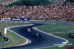 Ayrton Senna vor Nelson Piquet