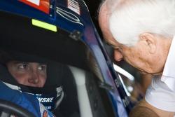 Kurt Busch gets some advice from owner Roger Penske