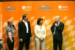Fredrik Johnsson (ROC Organiser), Michèle Mouton (ROC Organiser), Jonathan Gregory (Marketing Director, Wembley Stadium)