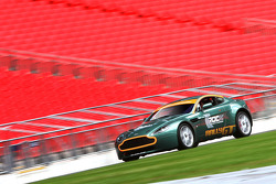 Colin McRae in the Aston Rally GT at Wembley