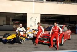 Heikki Kovalainen, Sébastien Loeb y Daniel Sordo