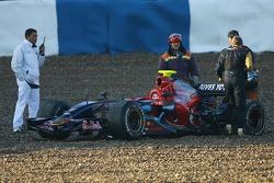 Sebastian Vettel, Scuderia Toro Rosso, STR02 in the gravel