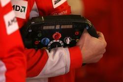 The steering wheel of Michael Schumacher, Test Driver, Scuderia Ferrari