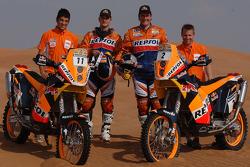 Motorcycle team presentations