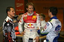 Michael Schumacher, Mattias Ekström and Jimmie Johnson