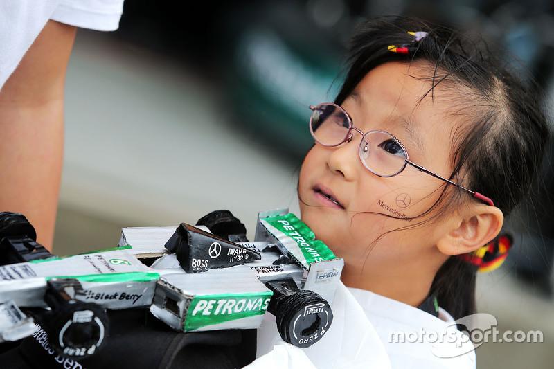 Ein Fan von Mercedes AMG F1