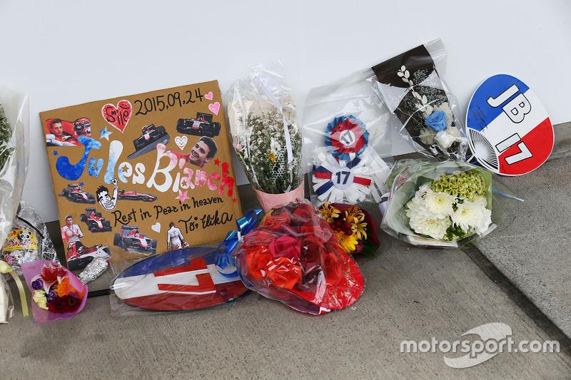 Merecidos homenajes a Jules Bianchi