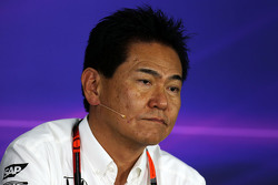 Yasuhisa Arai, Directeur de la Compétition Honda lors de la conférence de presse de la FIA
