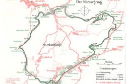 Mapa de Nordschleife en 1936