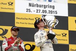 Подиум: победитель гонки Максим Мартен, BMW Team RMG BMW M4 DTM, второе место - Эдоардо Мортара, Audi Sport Team Abt
