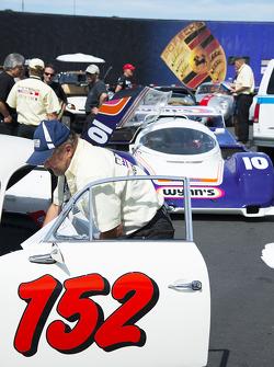 Ausstellung historischer Porsche-Fahrzeuge