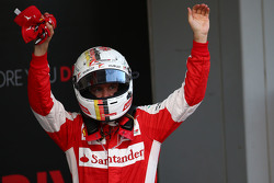 Derde plaats Sebastian Vettel, Ferrari