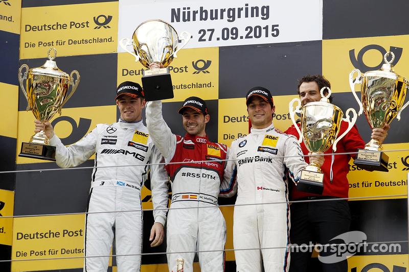Podium: winner Miguel Molina, Audi Sport Team Abt, second place Paul di Resta, HWA AG Mercedes AMG, third place Bruno Spengler, BMW Team MTEK
