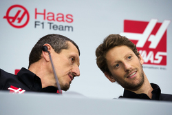 Gunther Steiner, Team Principal Haas F1 Team, Romain Grosjean, Haas F1 Team