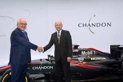 Christophe Navarre, Chairman and CEO of Moët Hennessy, and Ron Dennis, McLaren Technology Group Chairman and CEO