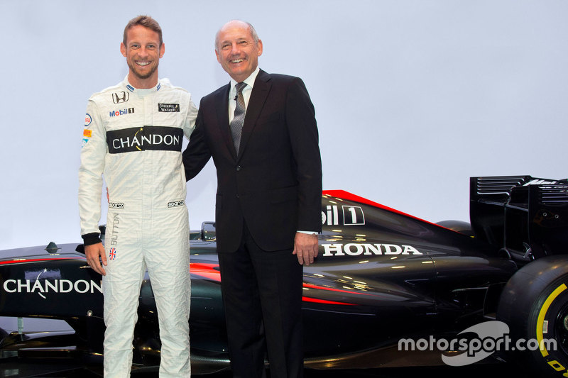 Jenson Button, McLaren and Ron Dennis, McLaren Chairman & Chief Executive Officer