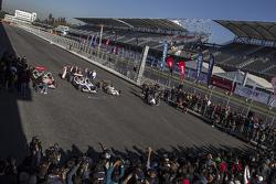 Inauguración del Autódromo Hermanos Rodríguez para el GP de Mexico