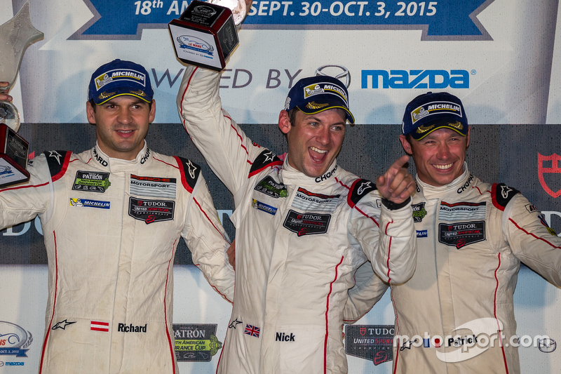 Overall race winners #911 Porsche North America Porsche 911 RSR: Patrick Pilet, Nick Tandy, Richard Lietz