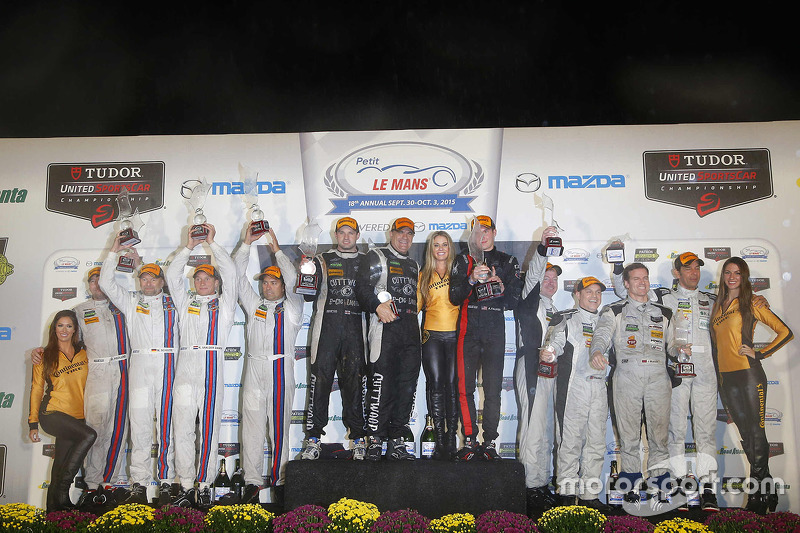 PC podium: winners Mike Guasch, Tom Kimber-Smith, Andrew Palmer, second place Mike Hedlund, Renger v