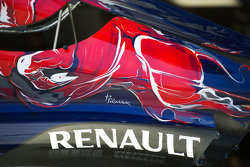 Scuderia Toro Rosso STR10 engine cover with Renault logo