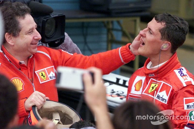 Michael Schumacher, Ferrari, bersama Jean Todt