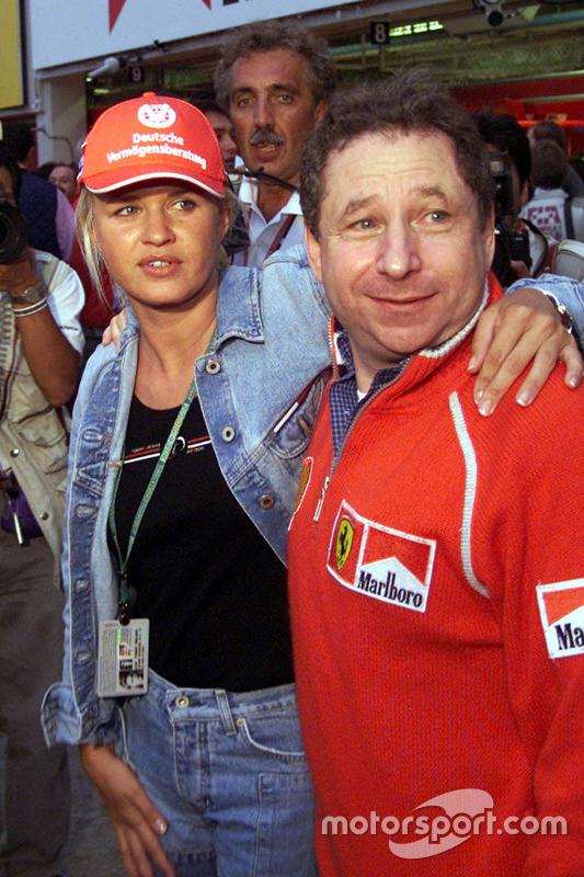 Corinna Schumacher and Jean Todt