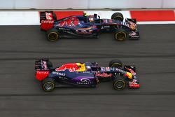 Daniel Ricciardo, Red Bull Racing y Carlo Sainz, Scuderia Toro Rosso