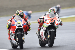 Andrea Iannone, Ducati Team and Danilo Petrucci, Pramac Racing