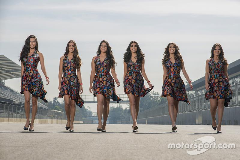 Die Girls des Großen Preises von Mexiko