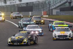 Start: #2 Black Falcon Mercedes-Benz SLS AMG GT3: Hubert Haupt, Yelmer Buurman, Adam Christodoulou,