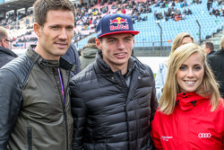 Sebastien Ogier, Volkswagen Motorsport and Max Verstappen , Scuderia Toro Rosso with his girlfriend Mikaela Ahlin-Kottulinsky