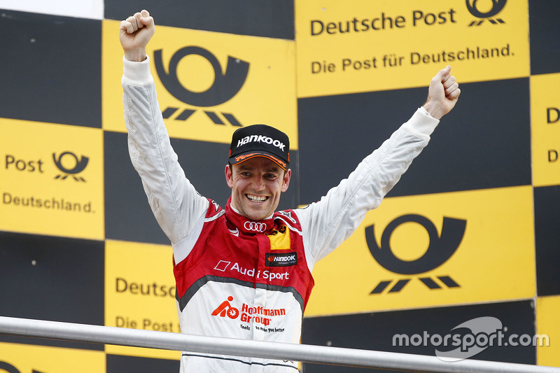 Podium: race winner Jamie Green, Audi Sport Team Rosberg Audi RS 5 DTM