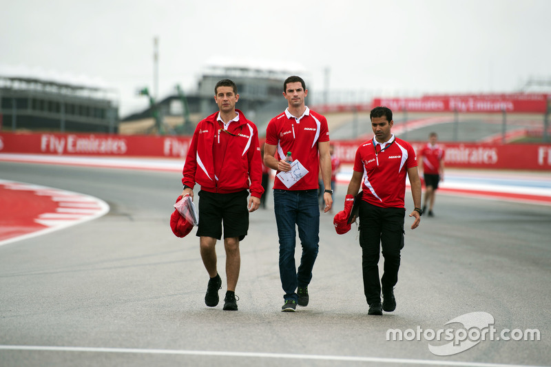 Alexander Rossi, Manor F1 Team walks the circuit