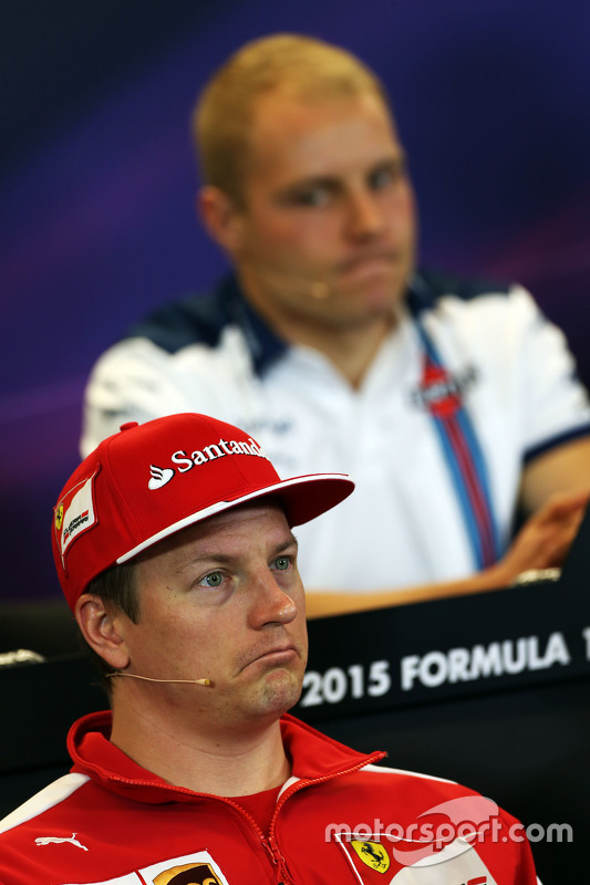 Kimi Raikkonen, Ferrari en Valtteri Bottas, Williams  in de FIA persconferentie