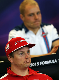 Kimi Raikkonen, Ferrari and Valtteri Bottas, Williams in the FIA Press Conference