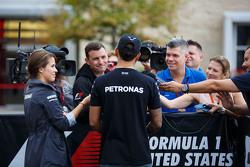 Lewis Hamilton, Mercedes AMG F1 with Will Buxton, NBC Sports Network TV Presenter
