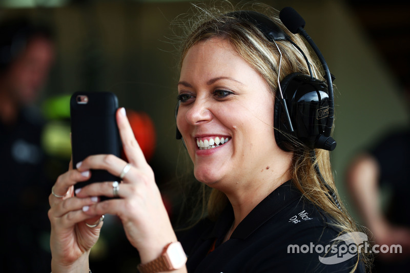 Aurelie Donzelot, Lotus F1 Team Media Communications Manager