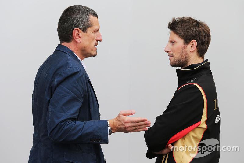 غونتر ستاينر، مدير فريق هاس ورومان غروجان، لوتس