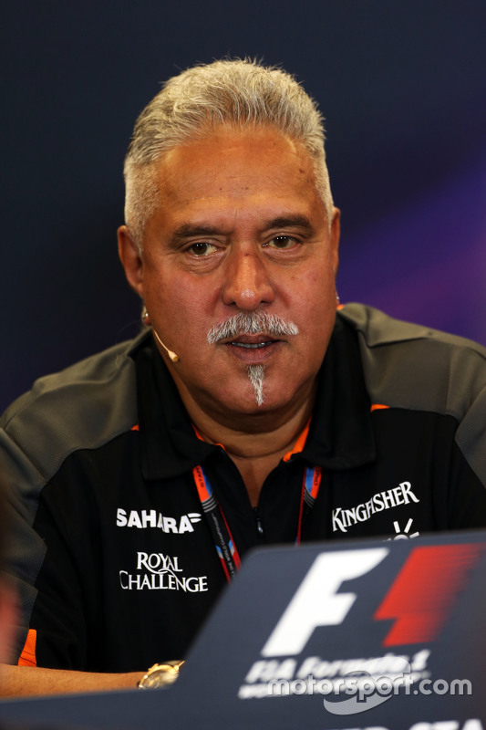 Dr. Vijay Mallya, Sahara Force India F1 teambaas in de FIA persconferentie